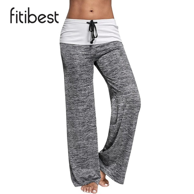 2409794d15b Fitibest Women Casual Bottom Pants Sweatpants Comfortable Loose Soft Wide  Leg Trousers with Drawstring Waistband