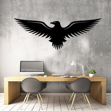 Delicate eagle Vinyl Decals Wall Stickers Kids Room Nature Decor Mural Poster Living Room muursticker adesivo de parede 3d plane family wall stickers mural art home decor vinyl stickers wall decals kids room decor living room adesivo de parede
