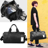 Travel Bag Unisex Womens Mens Duffle Bags Weekend Overnight PU Leather Shoulder Bolsas Traveling Sports Gym Trip Boys Hand Bags