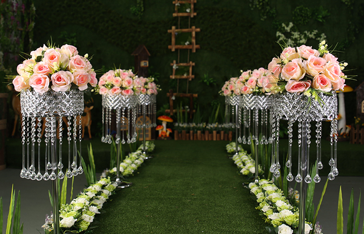 The new crystal flower racks road lead wedding decoration supplies the new crystal flower racks road lead wedding decoration supplies t stage furnishings home decoration supplies in party diy decorations from home junglespirit Choice Image