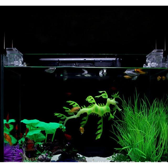 Cute Aquarium Ornaments Night Luminous Silicone Artificial Sea Dragon Fish Tank Decoration Random Colors
