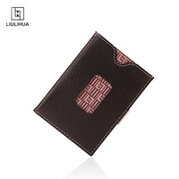 LLH Quick Card Access Trifold Purse Wallet genuine Leather Slim purse Men Credit Card Holder Brand Design Card Male Wallets