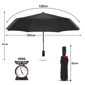 Image 2 - Windproof Double Automatic Folding Umbrella Female Male Ten Bone Car Luxury Large Business Umbrellas Men Rain Women Gift Parasol