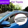 QCBXYYXH Car Styling 4pcs Lot Window Visors For Toyota RAV4 Corolla Camry Vios Yaris Prado Reiz