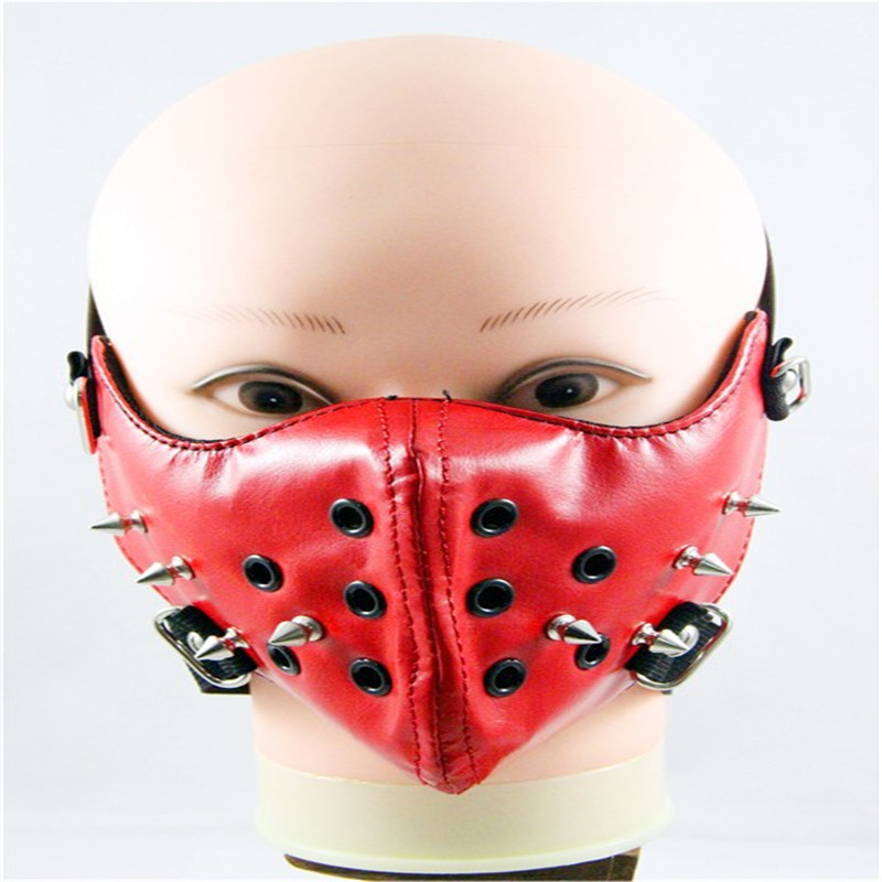 10pcs/Pack Mask Halloween Harley Masks Performances Rivet Non-mainstream Rock Men's Personality Motorcycle Masks