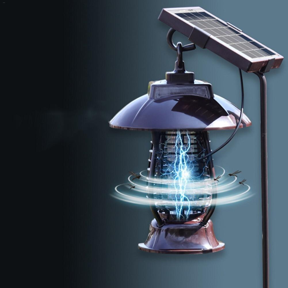 LAIDEYI LED solaire alimenté moustique tueur lampe moustique répulsif lumière insecte tuant lampe suspendue pour jardin cour extérieure