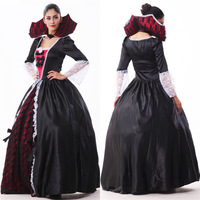 Adult Costume Halloween Women Black Color Witch Cosplay Halloween Costumes For Lady Ghost Bride Masquerade Party