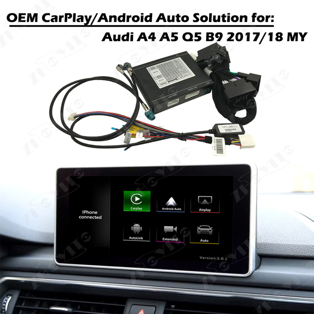 Aftermarket OEM Apple Carplay Android Auto Retrofit A A - Audi car play