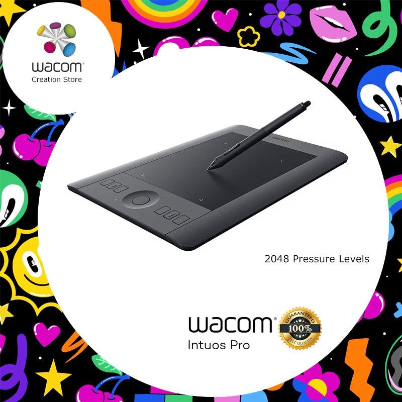 Tablette de dessin numérique multi-touch Wacom Intuos Pro PTH-451 2048 niveau de pression petite taille (inclus Kit d'accessoires sans fil)