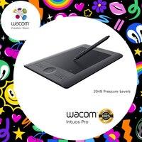 Wacom Intuos Pro PTH 451 Multi Touch цифровой планшет для рисования 2048 Уровень давления маленький размер (в комплекте беспроводной набор аксессуаров)