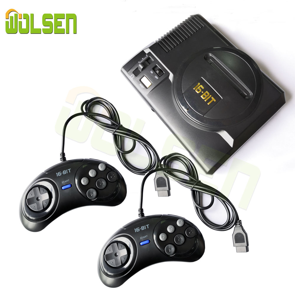 WOLSEN Mini Video game TV 16 Bit console AV SAÍDA Super Mini Handheld Game Console construído em 208 jogos