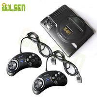 WOLSEN Mini Video TV game 16 Bit console AV OUTPUT Super Mini MD Handheld Game Console built in 208 games for sega