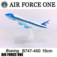 цена на 16CM 1:400 airplane Boeing B747-300 model Air Force One with base alloy aircraft plane collectible display toy model collection