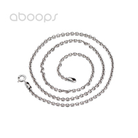 Vintage 925 Sterling Silver Anchor Chain Necklace for Men Women 3 mm 18 32 Inches Free Shipping