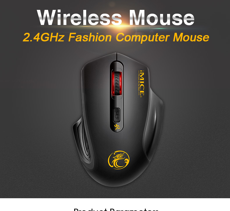 iMice Wireless Mouse 4 Buttons 2000DPI Mouse 9