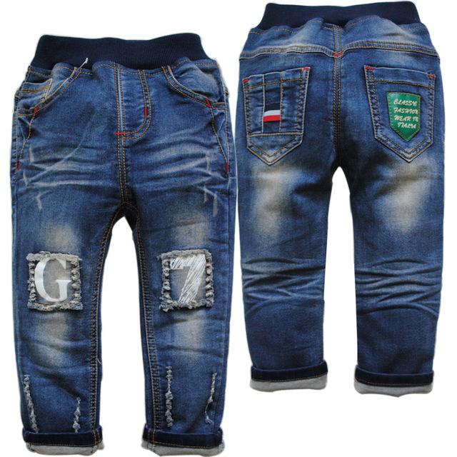 6154 bebé del dril de algodón bebé pantalones de mezclilla chicos vaqueros niños pantalones de chico de moda suave y el lavado no se desvanecen nuevo