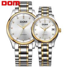 5af640c7412 DOM Amantes Casais Homens Mulheres Relógio de Quartzo Marca de Topo Relógio  Automático Relógios Vestido de