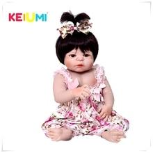 Реалистичные 23»Doll Reborn Младенцы полный силиконовый винил средства ухода за кожей Reborn куклы принцесса Дети Playmates игрушки для малыше