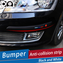 2 pcs Car Bumper Anti-collision Strip Black/White use for front and rear bumper car-styling mouldings fit all car models