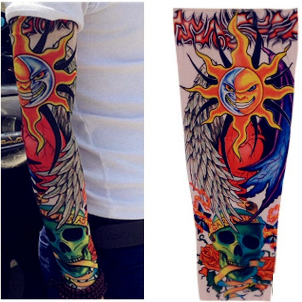 Arm Sleeve Arm Tattoo Cover Up Sleeves Nude Concealer Office New Workout Arm Warmer Fashion Men Women