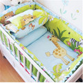 Baby Bed Set Baby bedding set Baby crib bedding set 100% cotton include Quilt Bumper bed Skirt etc