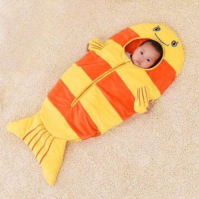 Детские спальные мешки золотая рыбка зимой дети мультфильма против kick был проведено только 0-2 лет ребенка спальный мешок с подарком