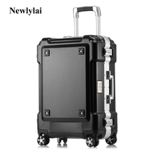 Grind arenaceous aluminum frame stick box universal wheel luggage suitcase 20/24/29 inches of checked luggage JJ170097