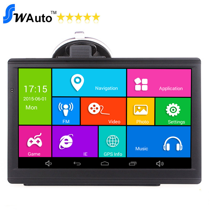 Android GPS 7 Inch Capacitive  Car Navigator Navigation Android 4.4.2 Quad Core 1.3GHz,8G,WIFI,AV-IN,Bluetooth Truck GPS