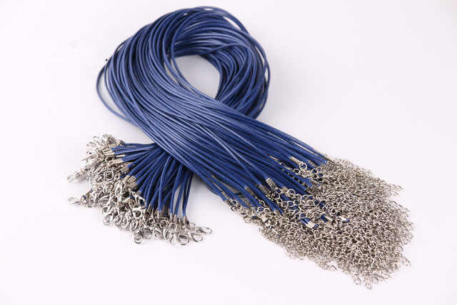 1 Pcs Sell DIY Fashion Wax Rope Choker Necklaces Crystal Necklace Women Holiday Beach Statement Jewelry