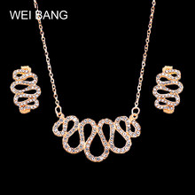 Best Hot New Irregular Geometry Jewelry Sets Gold Austrian Crystal Earring Pendant Necklace Woman Drop Shipping(China)
