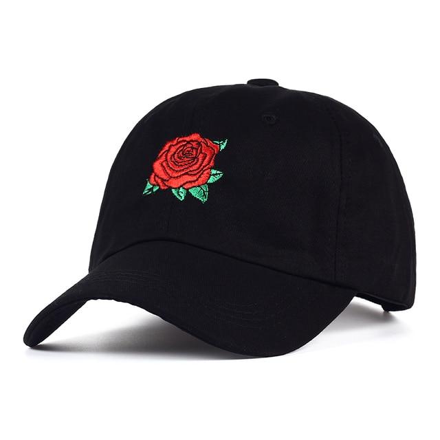 VORON 2017 New Hot Fashion Roses Men Women Baseball Caps Spring Summer Sun Hats for Women