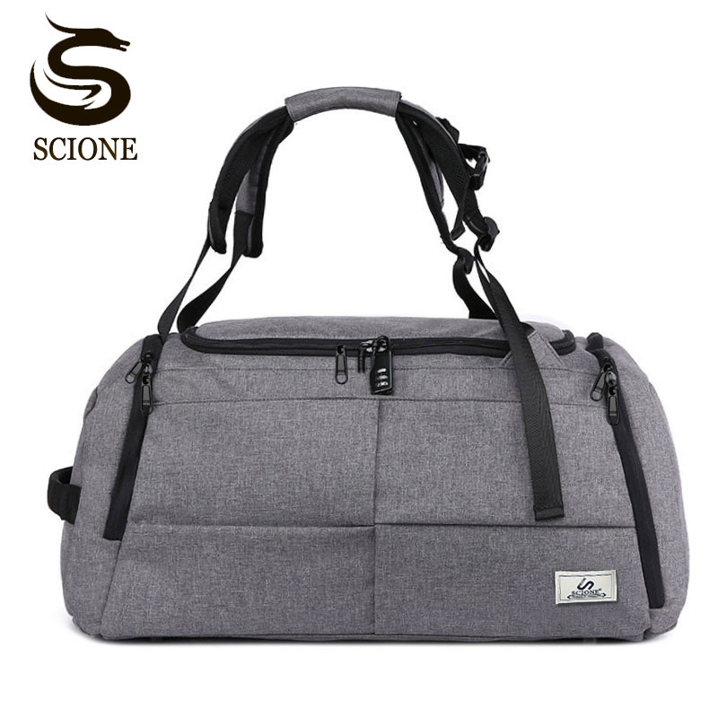 Scione Special Multifunction Men Travel Bags Anti Theft Male Bag Travel Duffel Bags For Man Large Capacity Shoulder Handbag