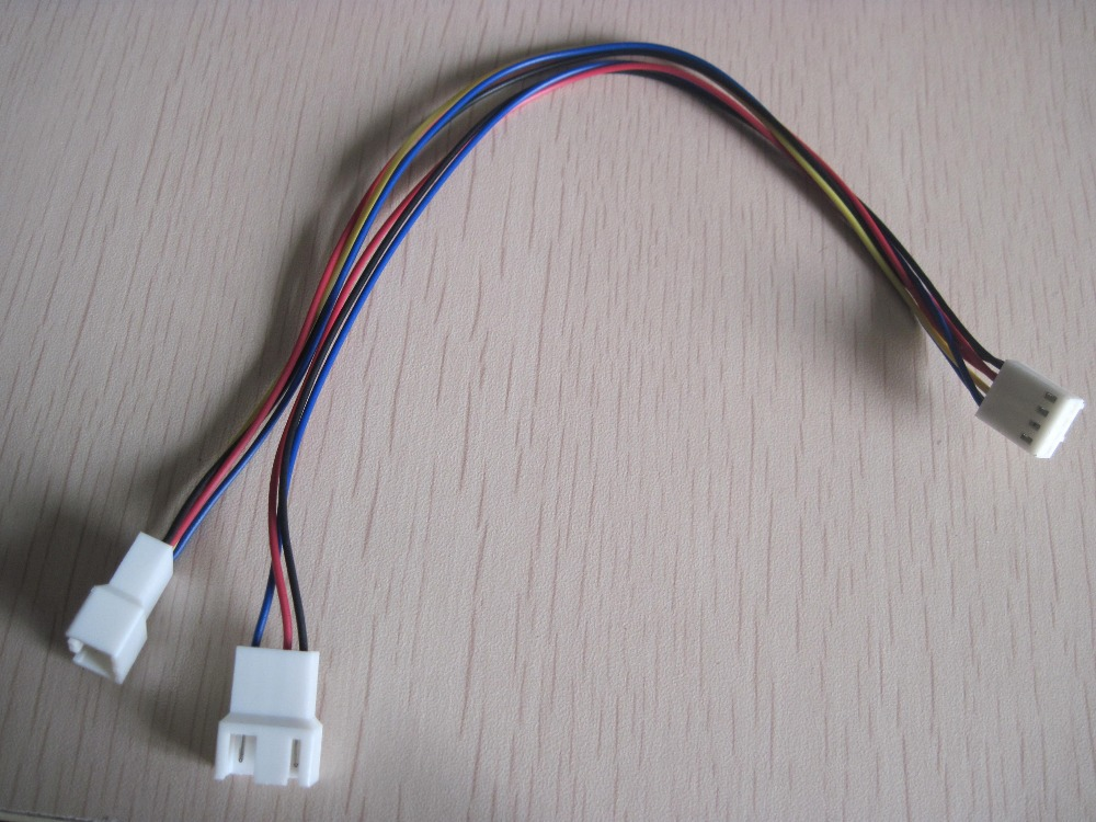 50PCS---Brand NEW 4 PIN female to 2 male(3pin+4pin) pc cooling fan power cable 27CM#32 ножницы зубр эксперт по металлу cr mo прямые короткие для сложных материалов 240мм 23103