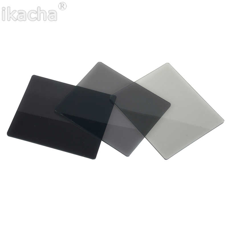 Filtro cuadrado de Color gris graduado ND ND2 ND4 ND8 ND16, filtro de densidad neutra para Cokin P series D5200 D5300 D5500