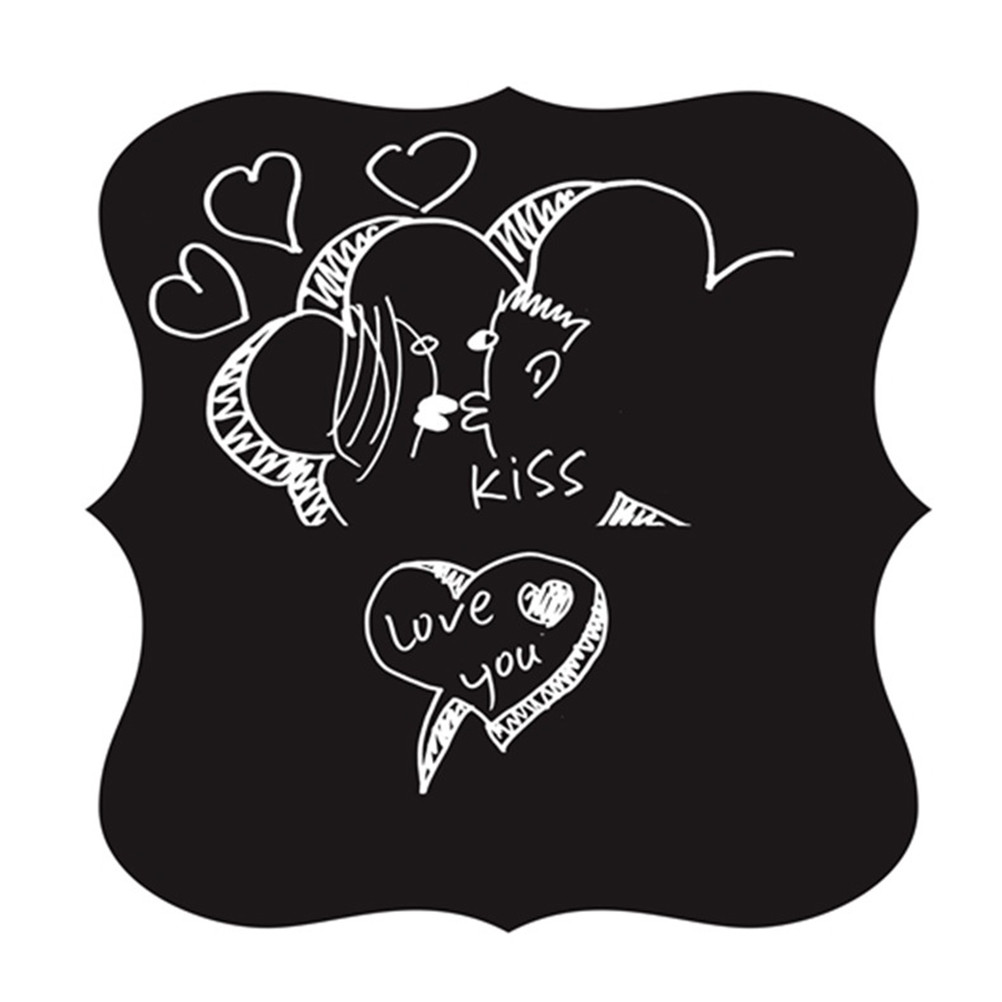 Creative Chalkboard Sticker Wall Sticker Removable Home Office Decorative Black Board Chalkboard Sticker School Supplies