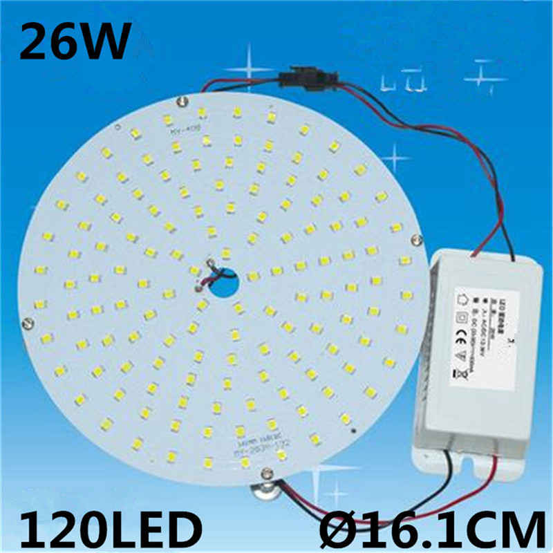 Circular 26W SMD2835 Magnetic LED Ceiling Lights Board Led Lights Panel Replacement 70W 2D CFL Ceiling Light 85~265V CW/WW kinfire circular 6w 420lm 6500k 30 x smd 3528 led white light ceiling lamp w driver ac 85 265v