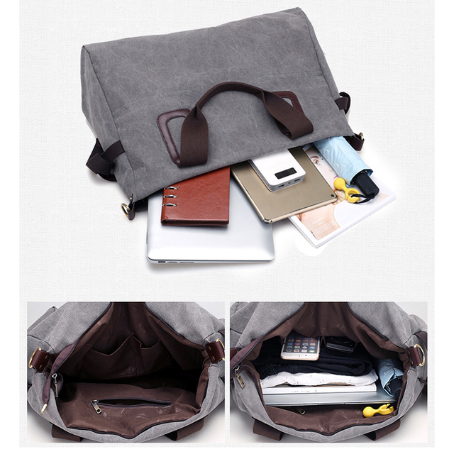 Canvas Women Handbags Casual Large Capacity Female Totes Hobos Solid Crossbody Shoulder Bag 4