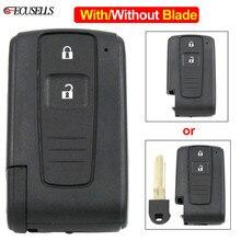 2 кнопки дистанционного ключа автомобиля в виде ракушки чехол для Toyota Prius 2004 2005 2006 2007 2008 2009 Corolla Camry Verso с/без необработанное лезвие