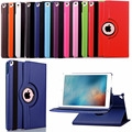 "For Apple iPad Pro 9.7"" PU Leather Smart Case + Bracket Flip Stand 360 Degree Rotating Book Cover Holder with belt buckle"