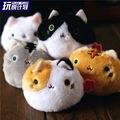 6 шт./компл. сан-x игрушки аниме Kutusita Nyanko кот плюшевые игрушки куклы каваи мини кот бесплатная доставка