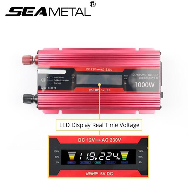 インバータ 12 v 220 v 2000 ワット電圧トランス車コンバータ 12 に 220 ソーラー Inversor 自動電源インバータ充電アダプタディスプレイ