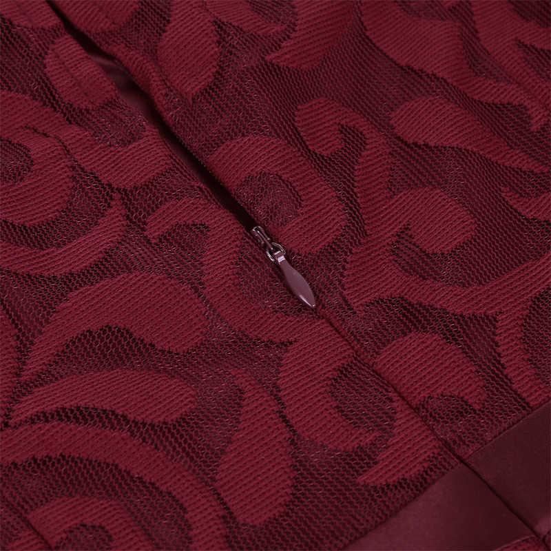 MISSJOY/красное платье; рождественское платье с круглым вырезом для женщин; праздничная одежда; Прозрачное Сетчатое кружевное платье без рукавов с длинной спинкой; короткое платье спереди