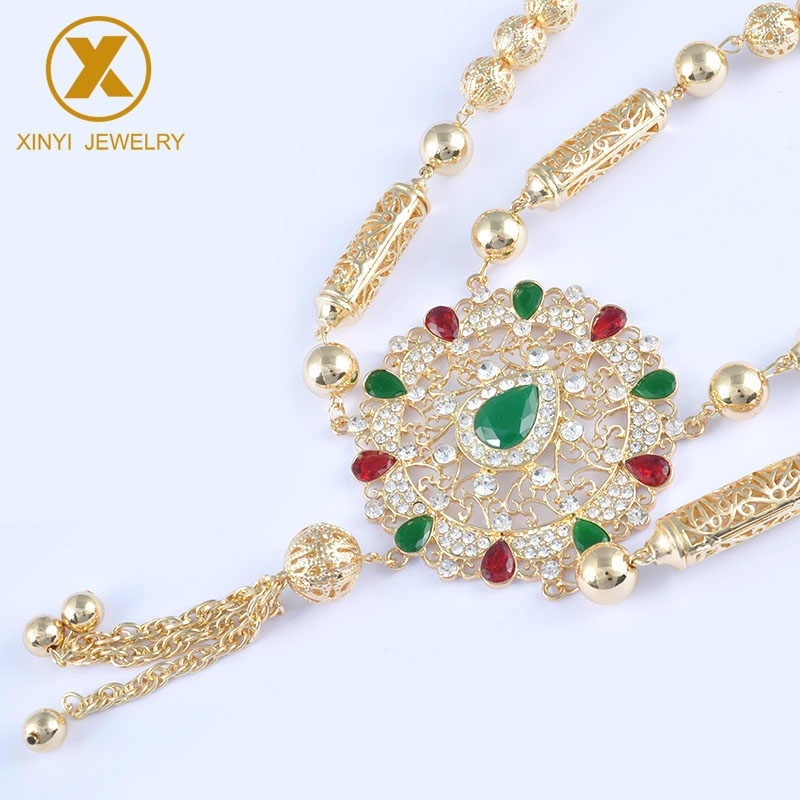 Golden National Brand Design of Bride's Necklace for Women's Wedding Chest decoration