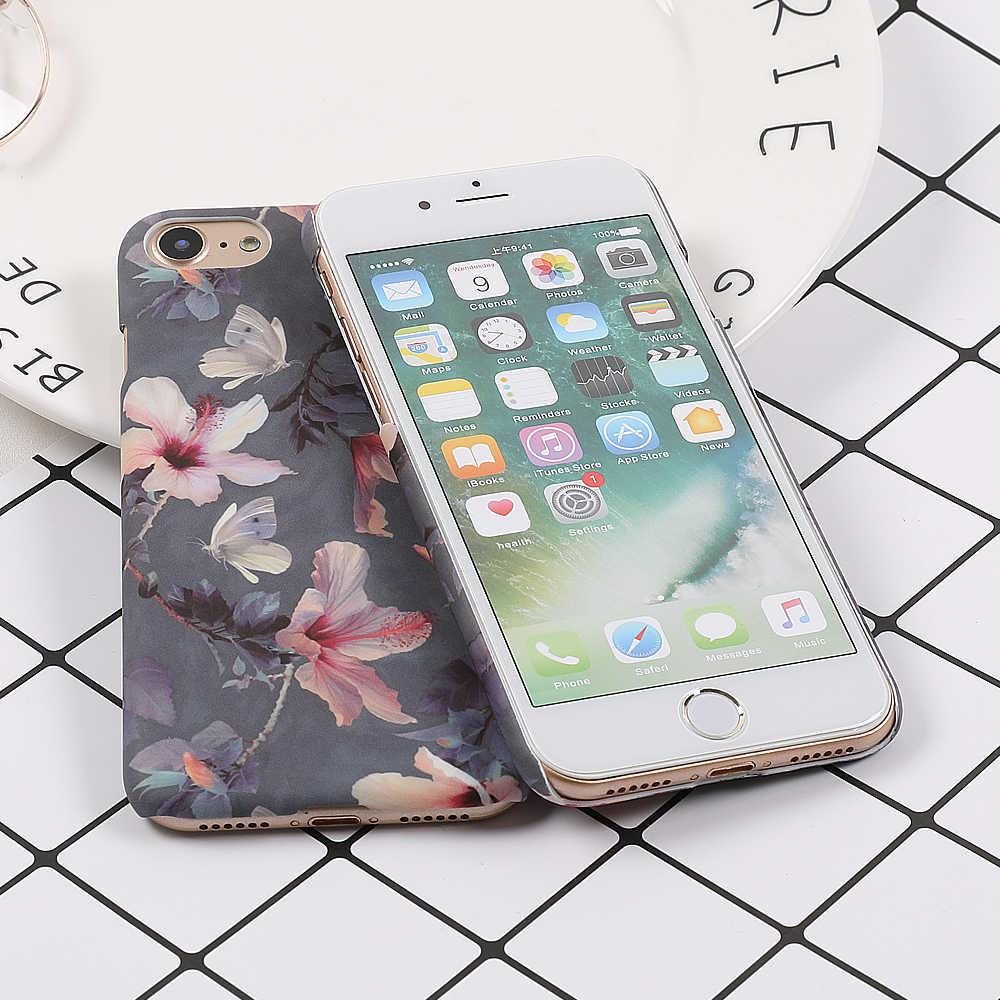 LOVECOM Телефон чехол для iPhone 5 5S SE 6 6S 7 8 Plus X XS XR XS Max Ретро Цветочный Цветок персика жесткая задняя крышка для телефона чехол s