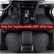 Matte leder auto boden matten für Toyota corolla 2007 2014 2015 2016 2017 2018 Nach auto fuß Pads automobil teppich abdeckung