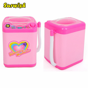 Surwish Educational Toy Mini Electric Washing Machine Children Pretend & Play Baby Kids Home Appliances Toy - Pink