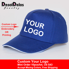 2019 New Fashion Logo Cotton Baseball Cap Snapback Simple Solid Hats For Men Gorras Bone Masculino 10pcs/lot
