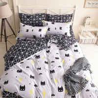 Conjunto de ropa de cama con máscara de Batman negra, funda nórdica de calidad de dibujos animados, conjunto de ropa de cama individual completo tamaño Queen King