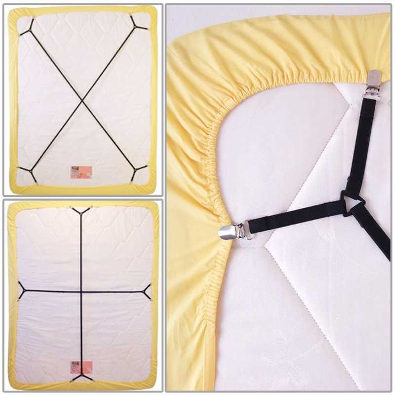 Sprei Elastis Gripper Klip Tali Pengikat Kasur Holder Grip Suspender Belt