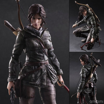 Play Arts Kai PA Tomb Raider Lara Croft Figure Play Arts Figure PA 26cm PVC Action Figure Doll Toys Kids Gift Brinquedos game 26 cm rise of the tomb raider lara croft variant painted figure variant lara croft pvc action figure collectible model toy